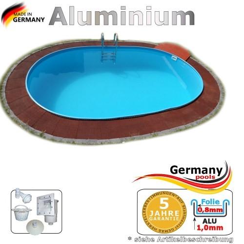 7,00 x 4,20 x 1,50 m Aluminium Ovalpool Alu Einbaupool