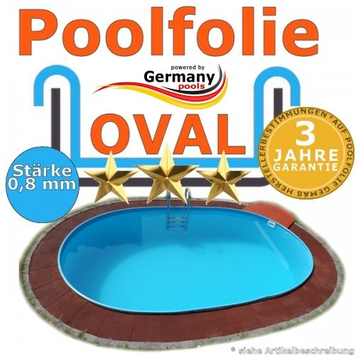 8,70 x 4,00 x 1,20 m x 0,8 Poolfolie bis 1,50 m
