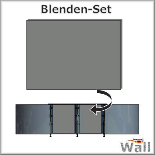 Germany-Pools Wall Blende B Tiefe 1,25 m Edition German-Dream Edelstahl