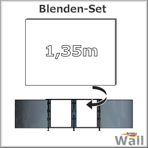 Germany-Pools Wall Blende B Tiefe 1,35 m Edition Alpha Weiß