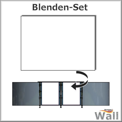 Germany-Pools Wall Blende C Tiefe 1,25 m Edition Omega Alu