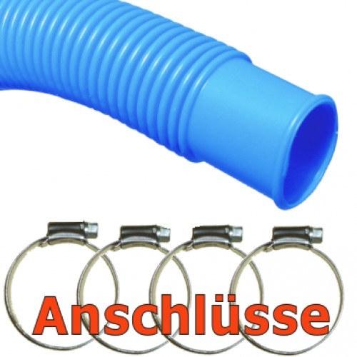 Pool-Anschluss Set Poolschlauch und Schellen