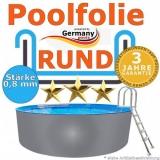2,00 x 1,20 m x 0,8 Poolfolie rund bis 1,50 m
