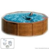 3,50 x 1,20 m Holzpool Poolbecken