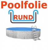 3,50 x 1,50 m x 0,8 mm Poolfolie rund mit Einhängebiese