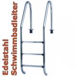 3 Stufen Schwimmbadleiter Tiefbeckenleiter Poolleiter 3 Stufig weit