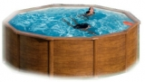 300 x 120 Holzpool Holz Optik Set