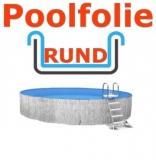 4,50 x 1,50 m x 0,8 mm Poolfolie rund mit Einhängebiese