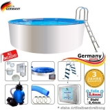 4,60 x 0,90 m Poolset Weiss