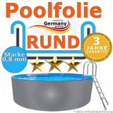 4,60 x 1,20 m x 0,8 Poolfolie rund bis 1,50 m