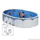 5,00 x 3,00 x 1,20 m Stahlwandpool Breiter Handlauf Pool Set