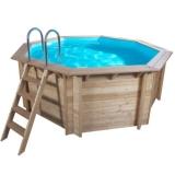 5,30 x 1,33 m Holzpool Holzbecken Pool rund Schwimmbecken Set
