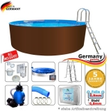 500 x 125 cm Stahl-Pool Set