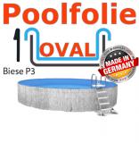 525x320x135 cm x 0,8 Poolfolie mit Keilbiese Ovalpool