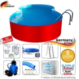 6,25 x 3,60 x 1,25 m Achtform-Swimmingpool Set Achtform-Pool