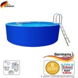 6,40 x 1,25 m Stahlwand Pool