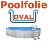 7,00 x 3,50 x 1,50 m x 0,8 Schwimmbadfolie oval Einhängebiese