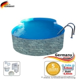 7,25 x 4,6 x 1,2 Achtformbecken Stein-Optik Achtform-Pool Stone