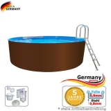 8,00 x 1,25 m Stahl-Pool