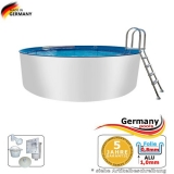 Aluwand Becken 4,00 x 1,50 m Aluminium-Swimmingpool