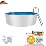 Aluwand Becken 4,20 x 1,50 m Aluminium-Swimmingpool
