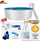 Aluwand Pool 600 x 125 Alupool Komplettset Aluminium-Pool