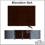 Germany-Pools Wall Blende A Tiefe 1,20 m Edition Dark-Wood