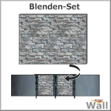 Germany-Pools Wall Blende A Tiefe 1,20 m Edition Stone