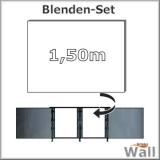 Germany-Pools Wall Blende B Tiefe 1,50 m Edition Alpha Weiß