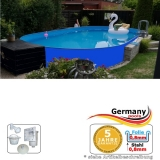 Ovalpool Blau 630 x 360 x 125 cm