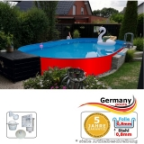 Ovalpool Rot 615 x 300 x 125 cm