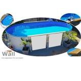 Ovalpool freistehend 7,40 x 3,50 m Germany-Pools Wall