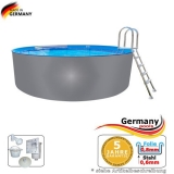 Pool mit Edelstahlwand 4,6 x 1,25 Edelstahlpool