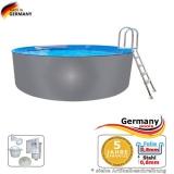 Pool mit Edelstahlwand 6,0 x 1,25 Edelstahlpool