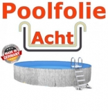 Poolfolie acht 7,25 x 4,60 x 1,35 m x 0,8 Folie Ersatz Sand