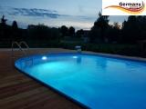 Ovalbecken Blau 6,0 x 3,2 x 1,25 m Komplettset