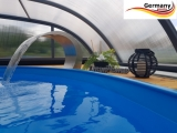 Ovalpool Palisander 800 x 400 x 120 cm