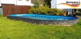 Ovalpool Grün 715 x 400 x 125 cm