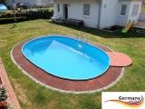 7,15 x 4,00 x 1,25 m Alu Ovalpool Ovalbecken Pool oval