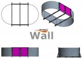 Ovalpool freistehend 8,70 x 4,00 m Germany-Pools Wall