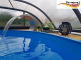 Ovalpool Palisander 737 x 360 x 120 cm