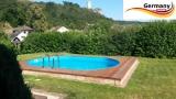 Ovalpool Elfenbein 800 x 400 x 125 cm