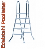 4,70 x 3,00 x 1,25 m Edelstahl-Achtformpool Komplettset