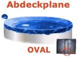 Ovalbecken Elfenbein 5,85 x 3,5 x 1,25 m Komplettset
