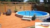 Aluwand Becken 8,00 x 1,50 m Aluminium-Swimmingpool
