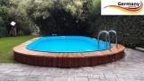 Ovalbecken Holz Design 8,7 x 4,0 x 1,20 m Komplettset