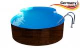 4,70 x 3,00 x 1,20 Achtformpool-Holz-Design Dark Holz-Muster Set