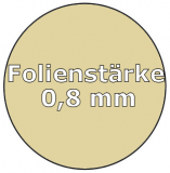 Poolfolie oval 5,25 x 3,20 x 1,20 m x 0,8 Folie Ersatz Sand