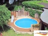 Aluwand Pool 360 x 125 Alupool Komplettset Aluminium-Pool