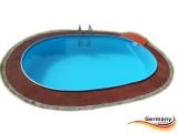 Ovalbecken Blau 8,7 x 4,0 x 1,25 m Komplettset